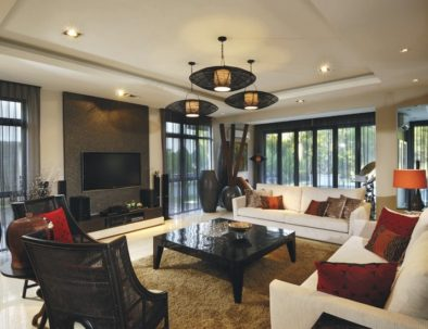 Sheer Drapes in Living Room Miami
